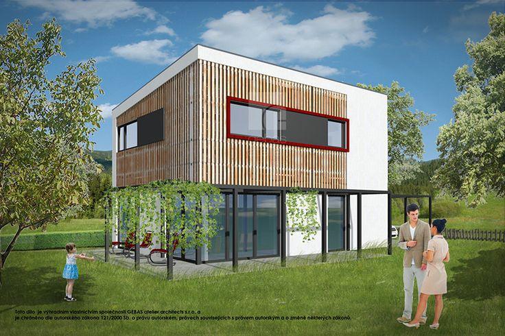 Typový projekt dvoupodlažního rodinného domu o velikosti bytové jednotky 5+kk, je větším rodinným domem vhodný pro rovinatý nebo mírně svažitý pozemek