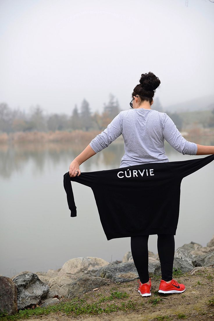 Top: Girl With Curves | Sweatshirt: Girl With Curves | Sports Bra: Victoria's Secret, old (similar here) | Pants: Champion, Target | Shoes: Nike Free 5.0+