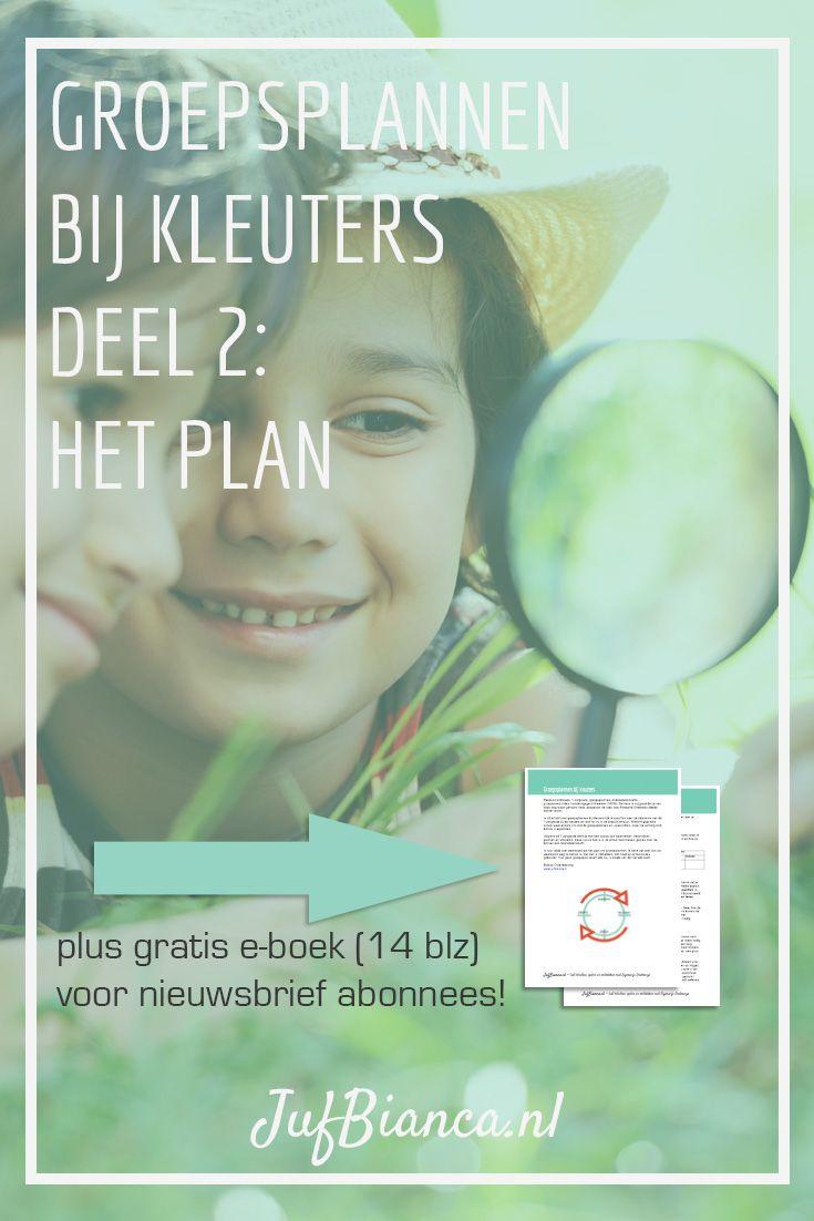 Groepsplannen bij kleuters deel 2 - het plan - Met gratis e-boek voor nieuwsbrief abonnees. Meld je aan!