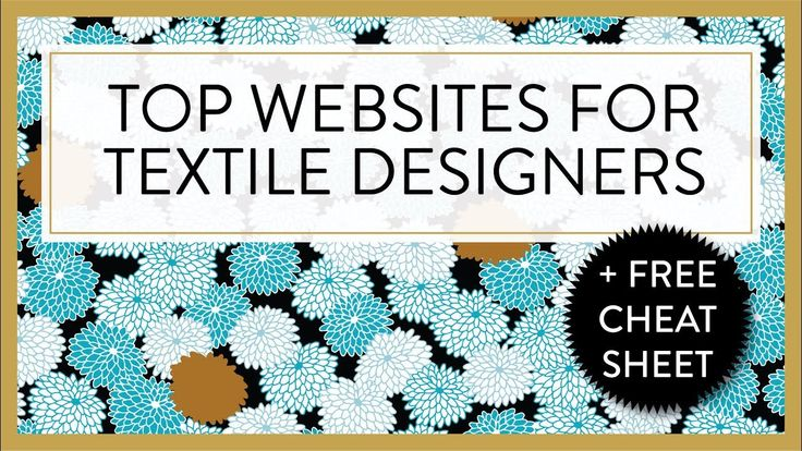 TOP WEBSITES FOR TEXTILE DESIGNERS :P