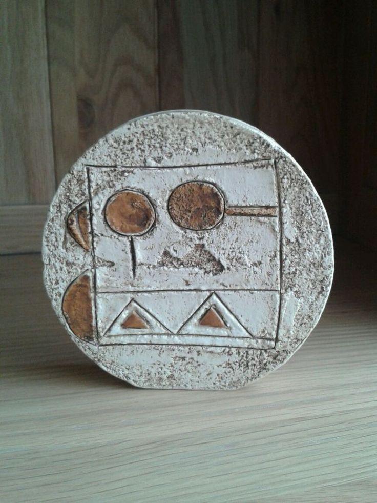 Troika Small Wheel Vase - Unusual Design - Signed M M