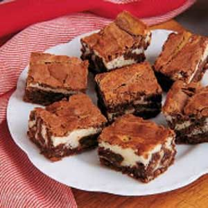 Chocolate Cream Cheese Brownies - yum! made these tonight, but used Scharffen Berger semisweet chocolate and neufchatel cheese