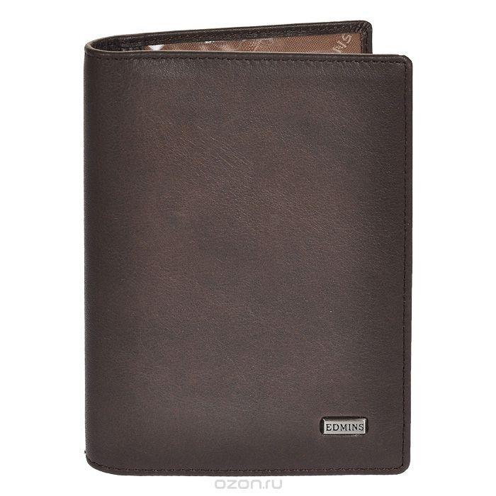 Обложка для автодокументов Edmins, цвет: серо-коричневый. 1896 ML/1N ED fumo
