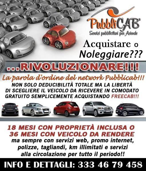 Drive your spot!!! Per la prima volta in italia una soluzione pubblicitaria che include gratis l incentivo del veicolo in comodato, FreeTax e a km illimitati!!!
