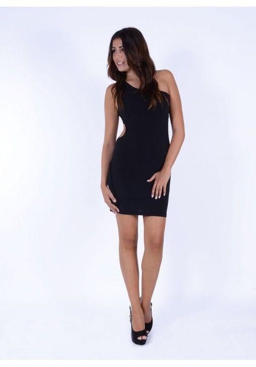 Φόρεμα ένας ώμος ανοιχτό στο πλάι