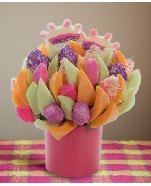You're a Princess Blossom scent free fruit bouquet are great for all occasions and make great gifts ideas or decorations from a proud Canadian Company. Great alternative to traditional flowers or fruit baskets