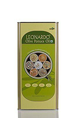 Leonardo Pomace Olive Oil (Tin) 5L @ Rs.1429  Amazon