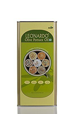 Leonardo Pomace Olive Oil (Tin) 5L @ Rs.1429  Amazon