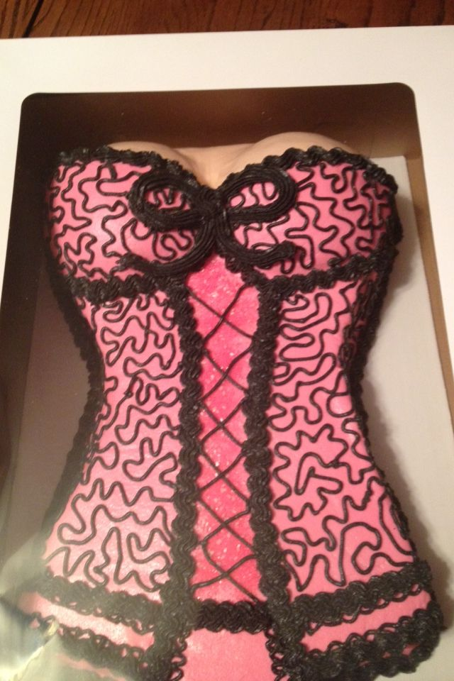 Lingerie Cake I made for a lingerie shower.