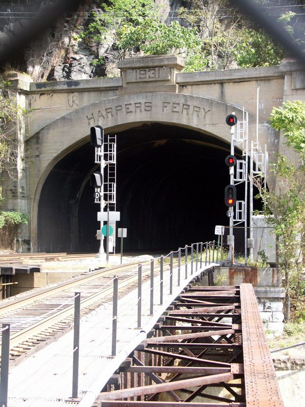 Photographer's Note: Although Harpers Ferry is in West Virginia, the tunnel is actually on the Maryland side.
