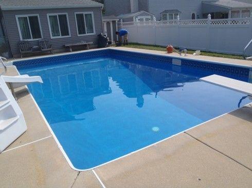 Cancun blue granite vinyl pools pool liners pool service pool renovations in bucks county - Pool and blues ...