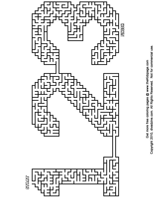 123 maze free printable learning activities for kids printable - Printable Fun Activities