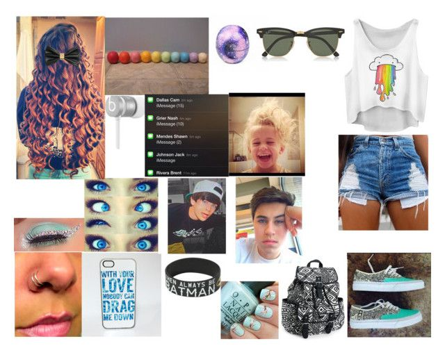 """""""ok comment"""" by dayna-hood-gilinsky-ross on Polyvore featuring Vans, Aéropostale, Beats by Dr. Dre, Eos, H&M and Ray-Ban"""