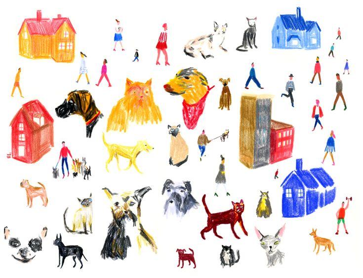 Playful editorial illustration by Matías Prado