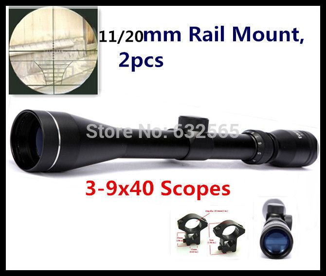 Cheap mount tie, Buy Quality mounted fish directly from China riflescope mount Suppliers: 	Wholesale Free Shipping Pro 3-9x40 Air Riflescope Optics Tactical Hunting Rifle Scope  + 2pcs 11 / 20mm Free Mount