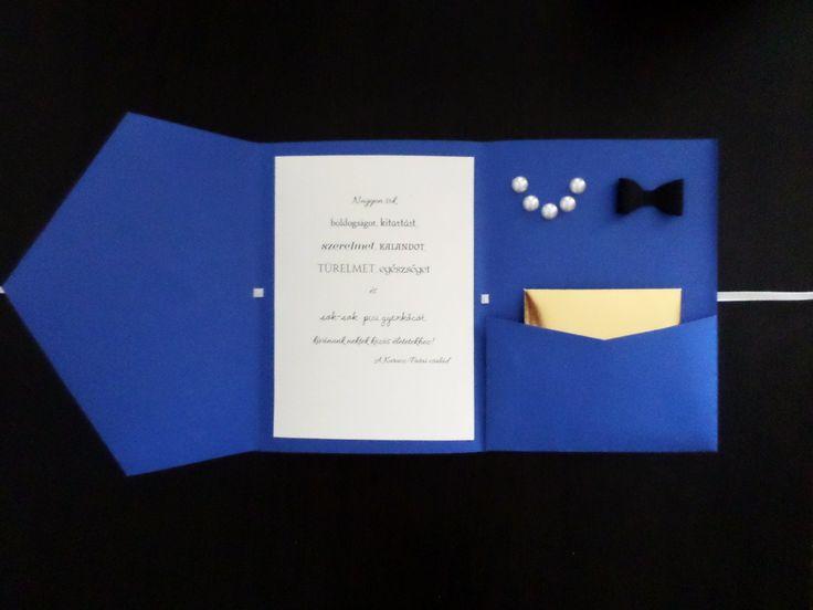Kézzel készített egyedi esküvői ajándékkártya_2017/ wedding, card, blue, gold, black, pearl, gift, esküvő, kártya, kék, arany, gyöngy, ajándék