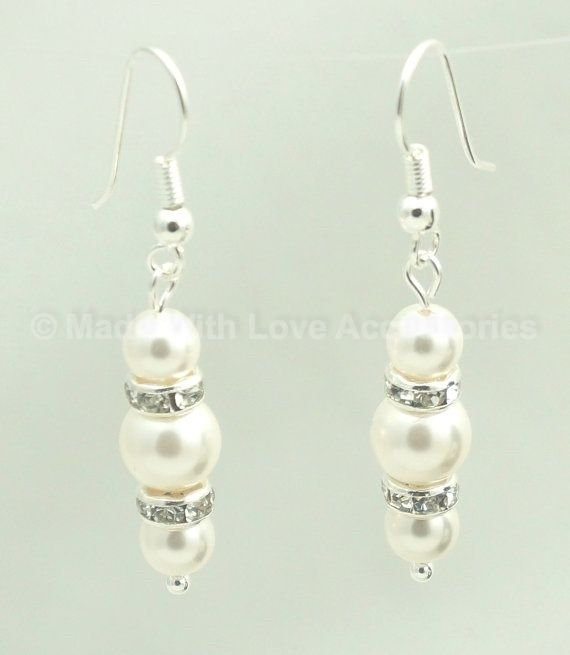 Pearl Drop Earings - Pearl Earrings - Bridal Jewellery - Wedding Accessories £17.50