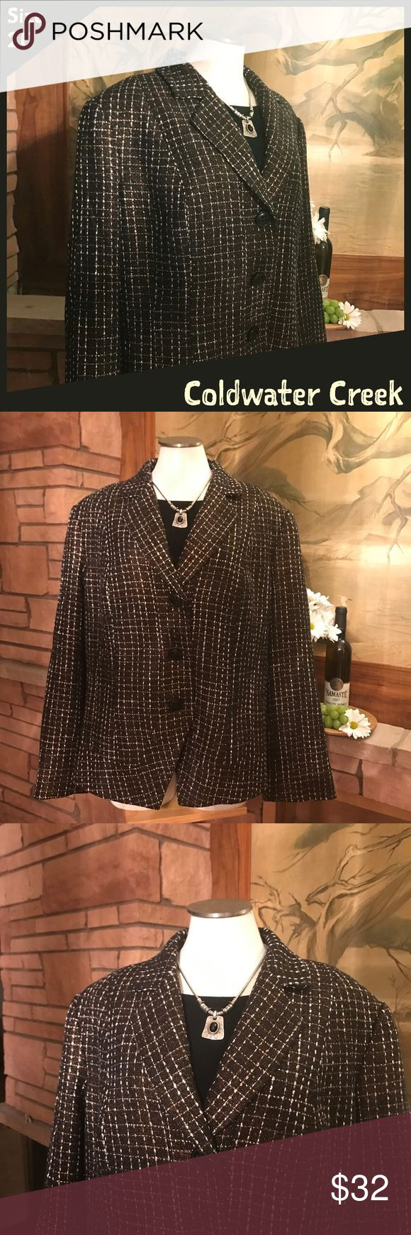 "🐣➕ Coldwater Creek Blazer This beautiful Coldwater Creek jacket will look amazing on you and make a great addition to your wardrobe!   Measurements:  -Armpit-to-armpit: 26 1/4""  -Length: 25 1/4""   From a smoke-free and happy-to-bundle closet.   No trades or transactions outside of Poshmark. [T98] Coldwater Creek Jackets & Coats Blazers"