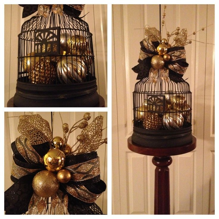 Best christmas birdcages images on pinterest