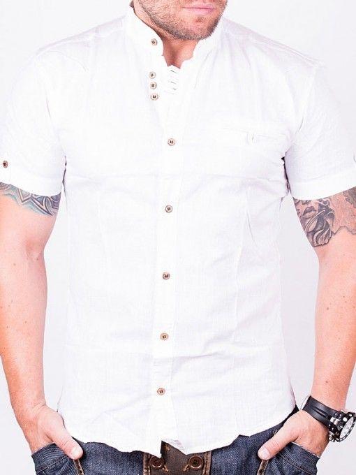 Camasa barbati Emilio Bruni cu maneca scurta alba