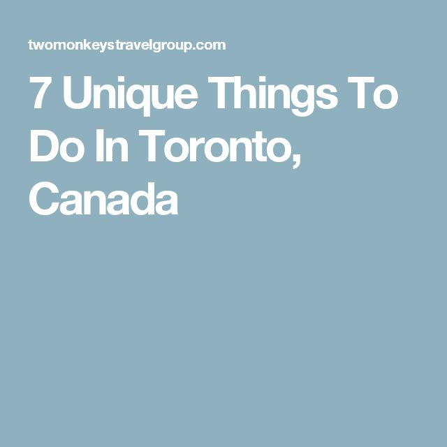 7 Unique Things To Do In Toronto, Canada