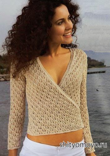 Модели вязаных пуловеров жакетов кофточек для женщин
