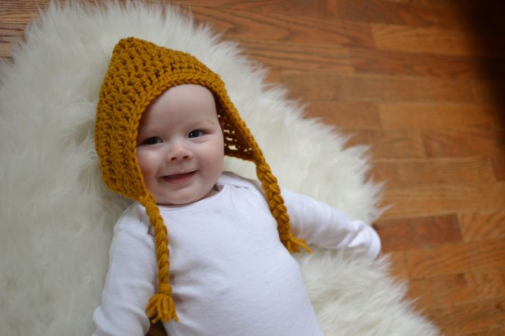 A personal favorite from my Etsy shop https://www.etsy.com/ca/listing/259508695/ready-to-ship-pixie-hat-size-3-6-months