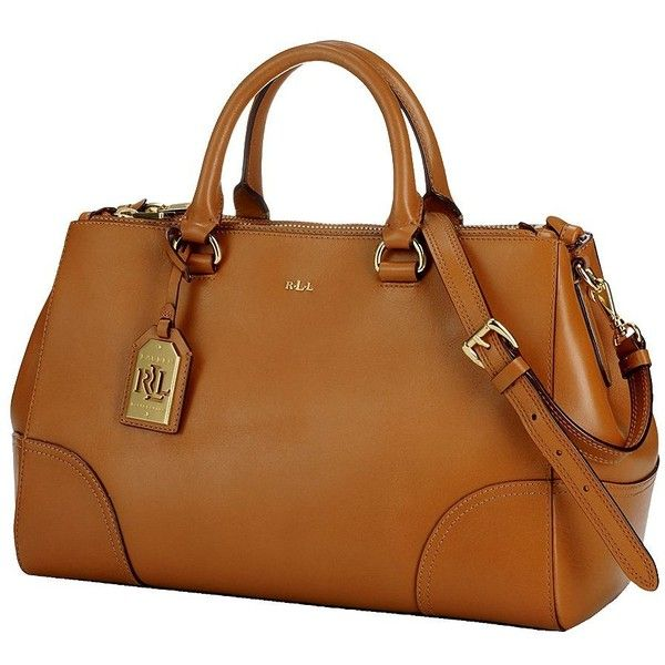 LAUREN RALPH LAUREN Double-Zip Leather Satchel found on Polyvore