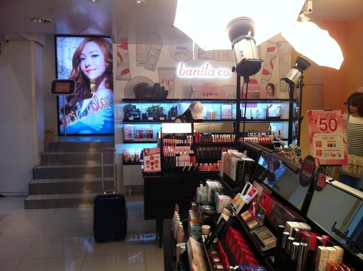 Inside Banila Co's shop :) visit pur online shop selling over 9500 korean cosmetics at www.w2beauty.com
