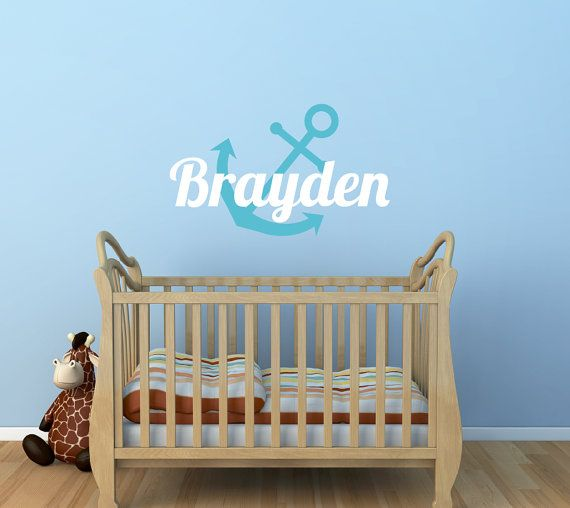 Anchor Name Decal Nautical Name Decal Nursery Decor - Underwater Decal Boys Name on Etsy, $17.13 CAD