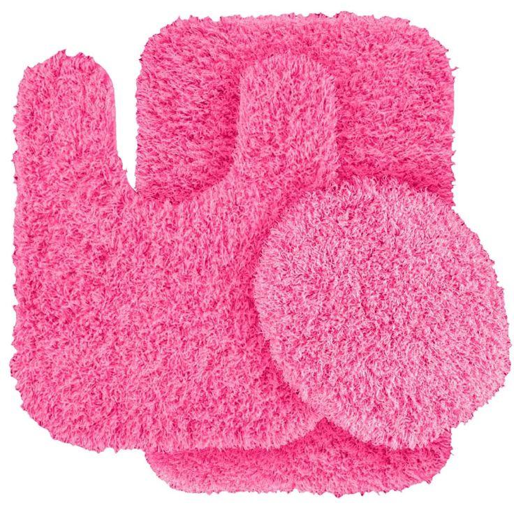 Elegant Bathroom Rugs Pink