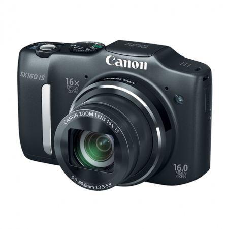 Canon Powershot SX160 IS Negru - 16mpx, zoom optic 16x, LCD 3