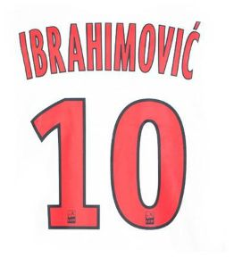 Mido 9 Official Name and Number Transfer Marseille 2003-2004 Local Ibrahimovic 10 - PSG Away 2013-2014
