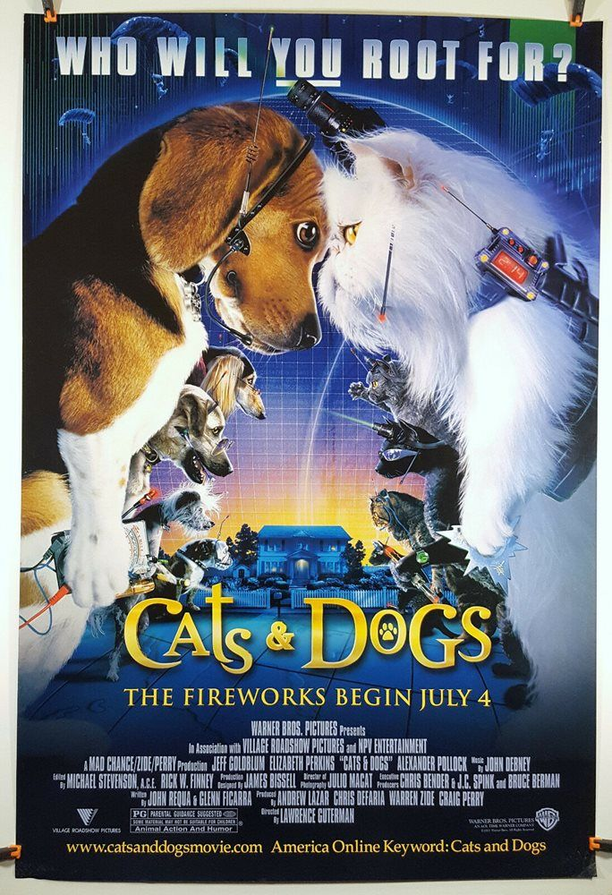 Cats Dogs Vhs 2001 Clamshell Dog Cat Vhs Dogs