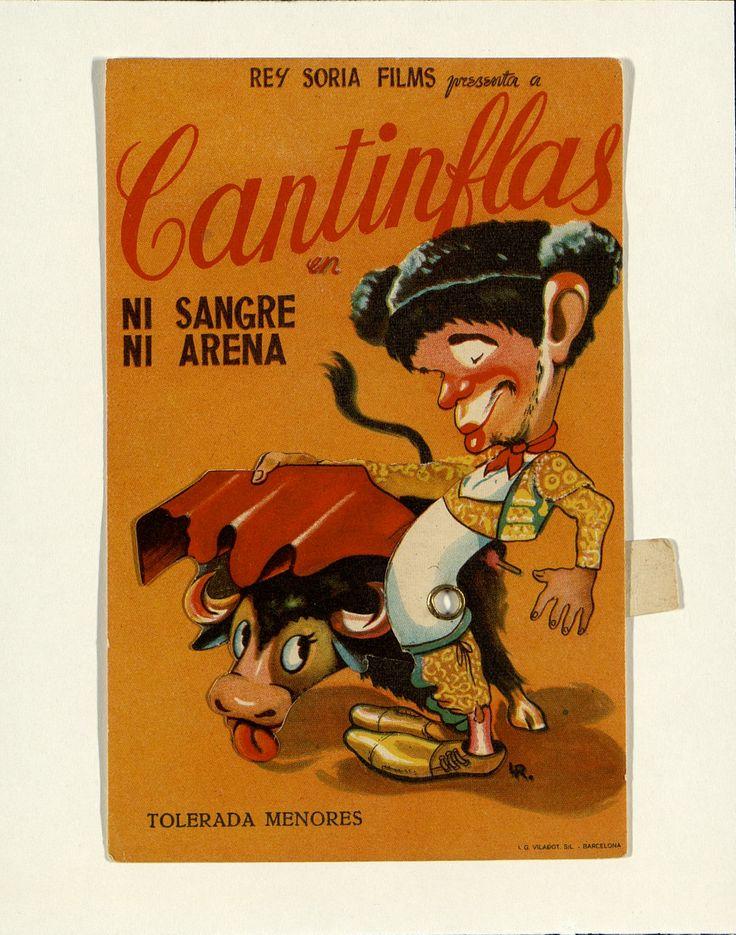 8.    Cantinflas en «Ni sangre, ni arena». Dirigida por Alejandro Galindo. Barcelona: I. G. Viladot, [1941]. #ProgramasdeMano #BbtkULL #Troquelados #DiadelLibro2014