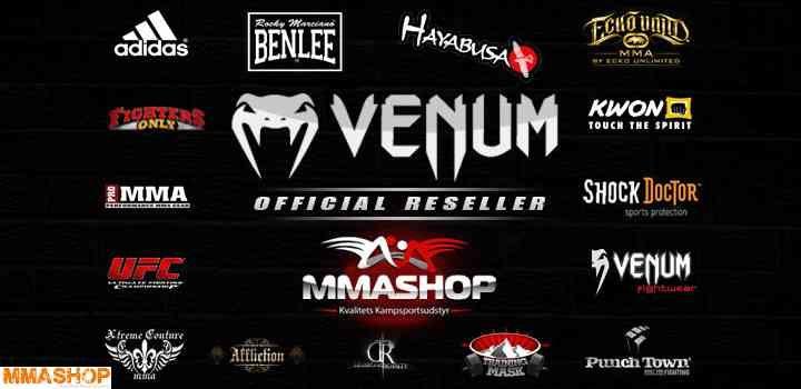 MMAShop er Officel Dansk forhandler af Venum kampsportsudstyr. Venum er specialist i at fremstille MMA Udstyr.