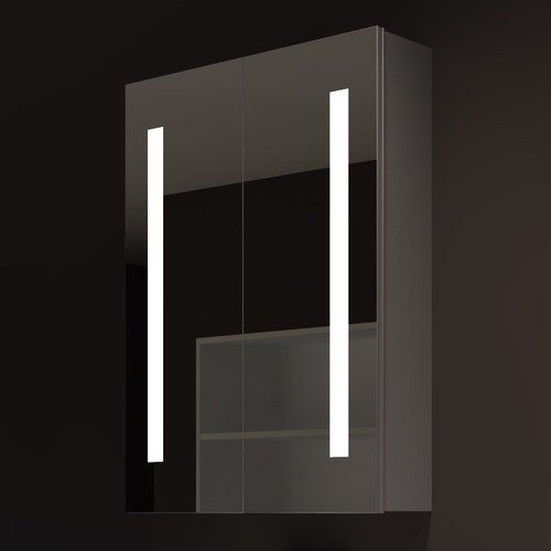 """Found it at AllModern - Verano 24"""" x 32"""" Surface Mount Medicine Cabinet with LED Lighting"""