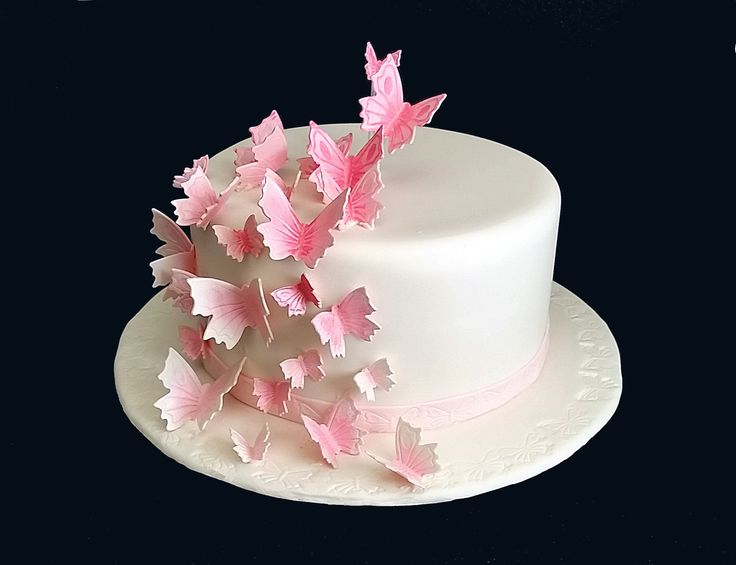 Fondant Butterfly Tutorial--How to Make Fondant Butterflies http://www.CakeSuppliesPlus.com for cake photos and supplies in video. Join us on facebook at htt...