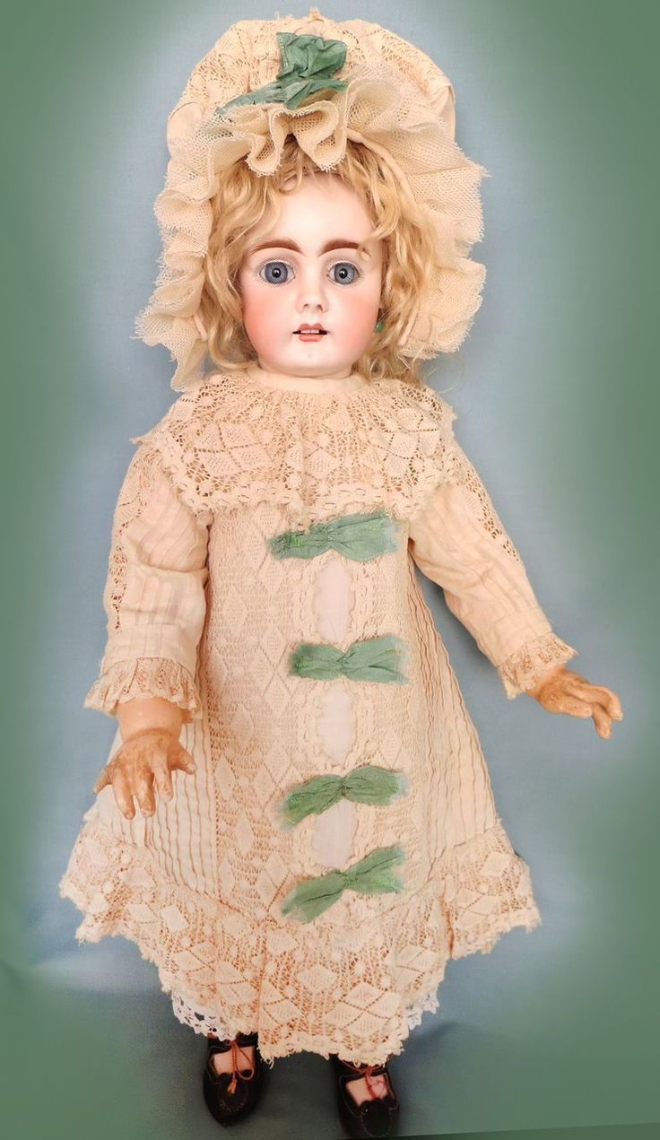 Antique German Bahr and Proschild Beautiful Doll with Chunky Body from abigailsattic on Ruby Lane
