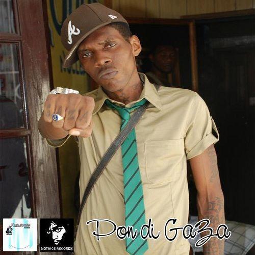 Pon Di Gaza by Vybz Kartel from 2009 http://reggaealbumcovers.com/2010/04/vybz-kartel-pon-di-gaza/