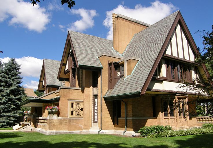 Nathan G. Moore House in Oak Park, IL designed by Frank Lloyd Wright