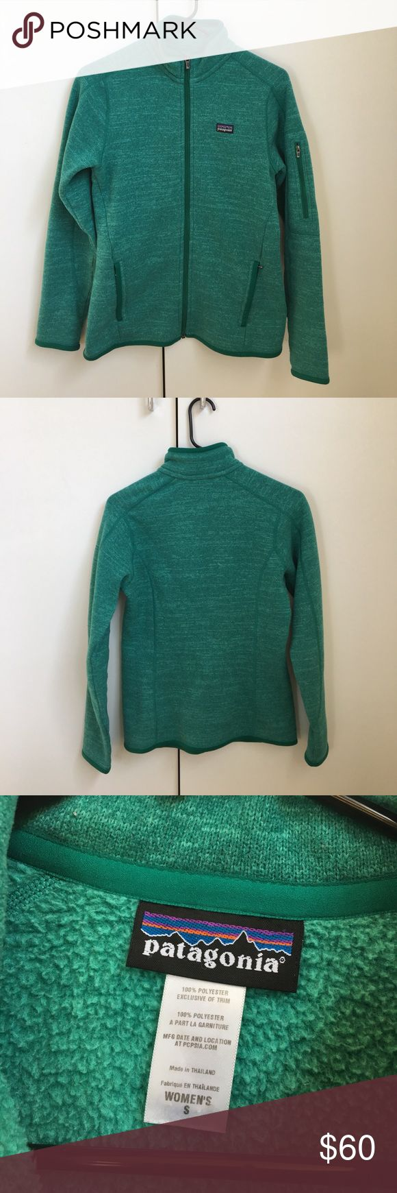 Green Patagonia sweater zip up Size small green women's patagonia sweater zip up Patagonia Jackets & Coats