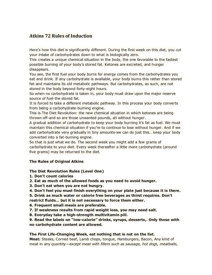 Atkins 72 Rules of Induction.docx | lowlowlow | Pinterest