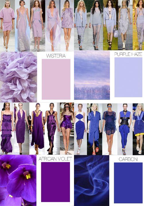 Trend Council:  COLOR FORECAST - Spring 15, Purples