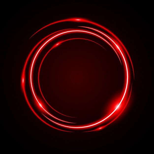 Abstract Circle Light Red Frame Vector Background Circle Light Vector Background Red Frame