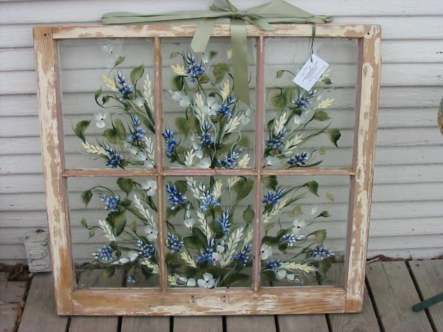 I Have The Old Window And My Sister Could Tole Paint Some Poppies On It.