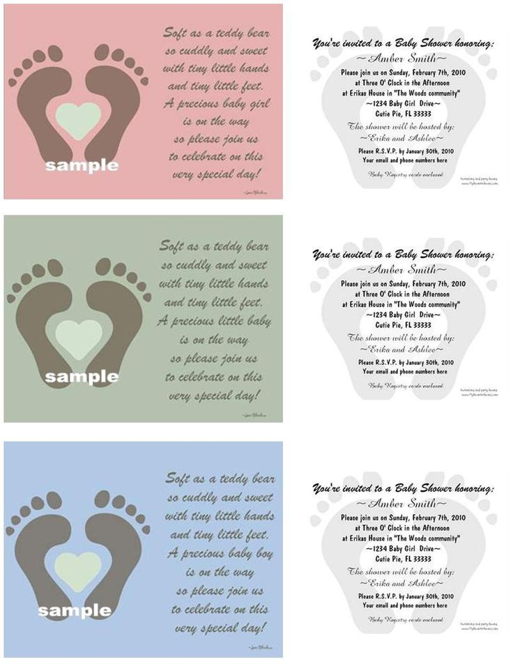 could make a cute birth announcement change the wording and put picture of baby shower poems