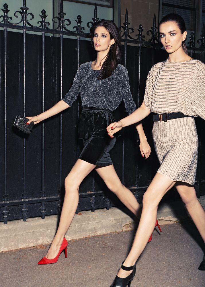 Cute going out style. Love the shoes. Kendra Spears for Mango Fall 2012 Catalog