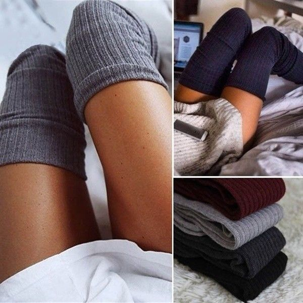 Winter Warm Women Knit Crochet Cotton Soft Thick Long Socks Thigh-High Leggings #Unbranded #SlipperBedSocks