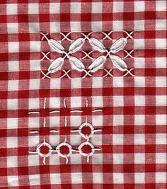 Chicken Scratch, Australian Cross Stitch, Depression Lace and Gingham Lace, Tenneriffe lace